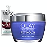 Olay Regenerist Retinol Moisturizer, Retinol 24 Night Face Cream, 1.7 Oz + Whip Face...