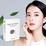 SKEDERM Snail Jelly Face Mask Sheet with Snail Secretion Filtrate 5,000ppm for Deep...