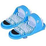 Tbestmax Magic Foot Scrubber Feet Cleaner Washer Brush for Shower Floor Spas Massage, Slipper...