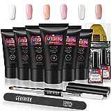 Gershion Poly Nail Gel Kit 30ml Nail Builder Gel Extension Nail Gel Kit Trendy Nail Art French...