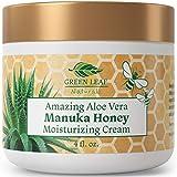 Amazing Aloe Vera Manuka Honey Moisturizing Cream for Face and Body - Gentle, Effective and...