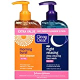 Clean & Clear 2-Pack Day and Night Face Cleanser Citrus Morning Burst Facial Cleanser with...