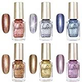 Freeorr 6 Colors Holographic Chameleon Nail Polish Set, Iridescent Gorgeous Glossy Glitter...