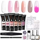 Modelones Poly Nail Gel Kit Enhancement Builder Temperature Color Changing Acrylic Extension...