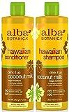 Alba Botanica Drink It Up Coconut Milk, Hawaiian Duo Set Shampoo and Conditioner, 12 Ounce...