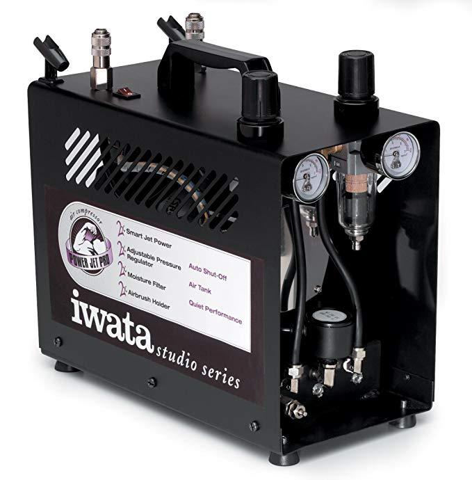 Iwata Medea Studio series powerjet Pro double Piston air compressor