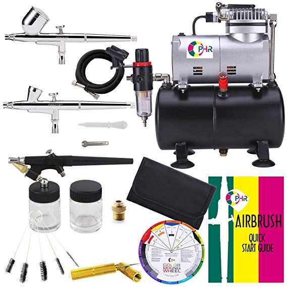 OPHIR 110V Pro airbrush kit airbrush compressor with tank