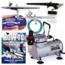 Point zero airbrush dual action airbrush kit with compressor