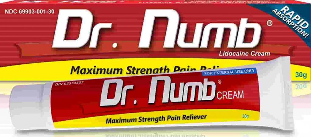 Dr. Numb numbing cream