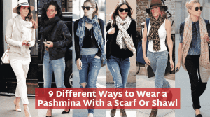 How to Wear Pashmina