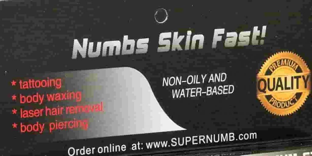 SUPER NUMB best numbing cream