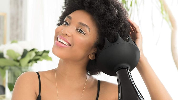 how to use a diffuser on straight hair for curls