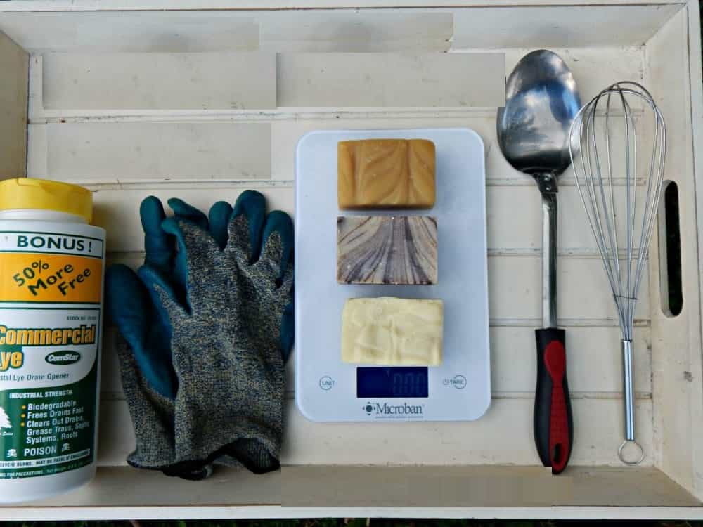 lye soap recipe Ingredients and Tool